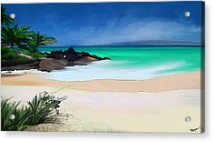 Acrylic Print featuring the digital art Tropical Charm by Anthony Fishburne