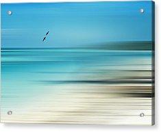 Tropical Cove Horizon Acrylic Print by Deborah Smith