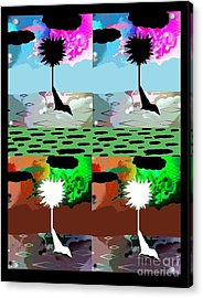 Acrylic Print featuring the digital art Tropical Daze 2 by Ann Calvo