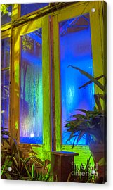 Tropical Door Acrylic Print by Darleen Stry