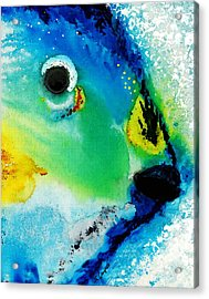 Tropical Fish 2 - Abstract Art By Sharon Cummings Acrylic Print