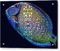 Tropical Fish Art 6 - Painting By Sharon Cummings Acrylic Print by Sharon Cummings