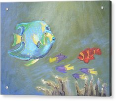 Tropical Fish Acrylic Print by Patricia Kimsey Bollinger