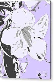 Tropical Floral Violet Black Acrylic Print