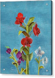 Acrylic Print featuring the painting Tropical Flower by Thomas J Herring