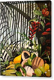 Acrylic Print featuring the painting Tropical Fruit by Alan Lakin