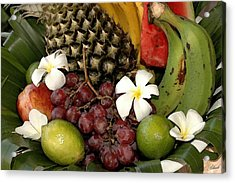 Tropical Fruit Basket Acrylic Print by Cole Black