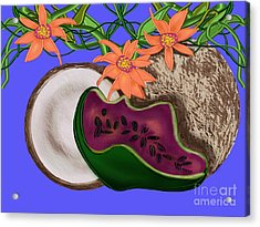 Tropical Fruit Acrylic Print by Christine Fournier