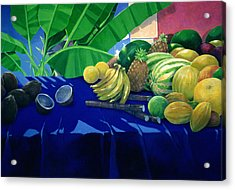 Tropical Fruit Acrylic Print by Lincoln Seligman