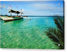 Tropical Getaway Acrylic Print by Lourry Legarde
