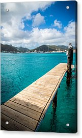 Tropical Harbor Acrylic Print by Kristopher Schoenleber
