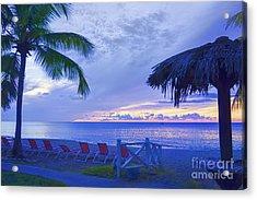 Tropical Island Acrylic Print by Betty LaRue