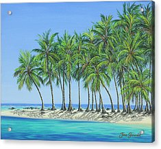 Acrylic Print featuring the painting Tropical Lagoon by Jane Girardot