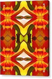 Tropical Leaf Pattern  11 Acrylic Print by Amy Vangsgard