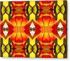 Tropical Leaf Pattern  12 Acrylic Print by Amy Vangsgard