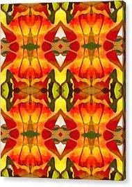 Tropical Leaf Pattern 8 Acrylic Print by Amy Vangsgard