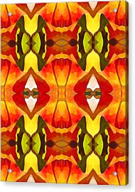 Tropical Leaf Pattern  9 Acrylic Print by Amy Vangsgard