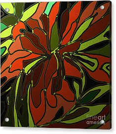 Tropical Leaves Acrylic Print by Shesh Tantry