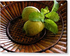 Tropical Lemons Acrylic Print by James Temple