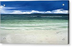 Acrylic Print featuring the digital art Tropical Ocean by Anthony Fishburne