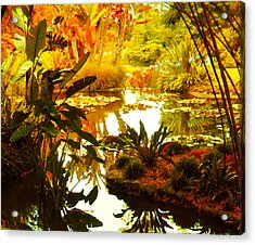 Tropical Paradise Acrylic Print by Amy Vangsgard