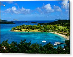 Tropical Paradise In The Virgin Islands Acrylic Print by Greg Norrell