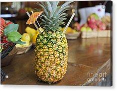 Tropical Pineapple Drink Acrylic Print by Brandon Tabiolo