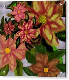 Tropical Plaid Acrylic Print by Christine Fournier