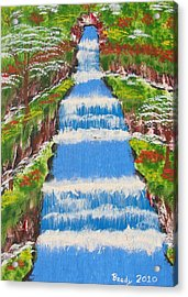 Tropical Rain Forest Water Fall Acrylic Print