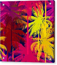 Tropical Seamless Pattern Depicting Acrylic Print