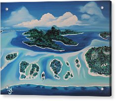 Acrylic Print featuring the painting Tropical Skies by Dianna Lewis