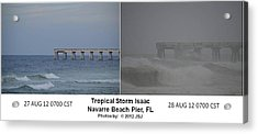Tropical Storm Isaac Difference In A Day Acrylic Print by Jeff at JSJ Photography