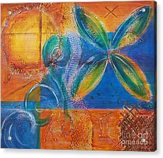 Acrylic Print featuring the painting Tropical Sun by Jocelyn Friis