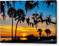 Tropical Sunset Acrylic Print by Bob Mulligan