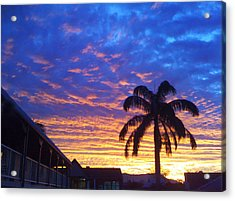 Tropical Sunset View Acrylic Print