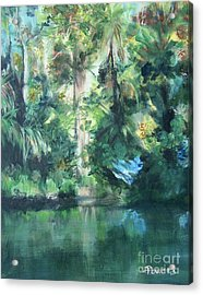 Acrylic Print featuring the painting Tropical Treasure by Mary Lynne Powers