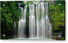 Tropical Waterfall Acrylic Print by Oscar Gutierrez