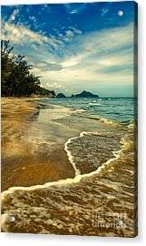 Tropical Waves Acrylic Print by Adrian Evans