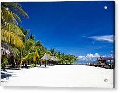 Tropical White Sand Beach Borneo Malaysia Acrylic Print by Fototrav Print