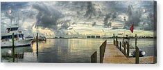 Acrylic Print featuring the digital art Tropical Winds In Orange Beach by Michael Thomas