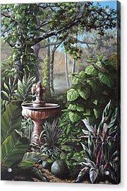 Florida Tropical Garden Acrylic Print