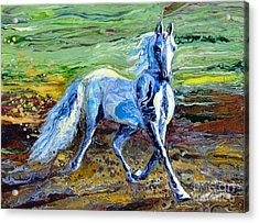 Trotting With Style Acrylic Print by En-Chuen Soo