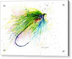 Trout Fly Acrylic Print by Christy Lemp