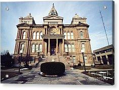 Troy's Courthouse  Acrylic Print by Rachel Barrett