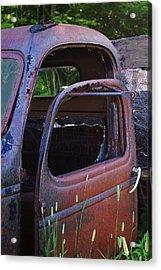 Truck And  Door Acrylic Print by Randy Pollard