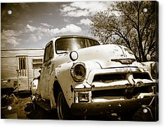 Acrylic Print featuring the photograph Truck And Trailer by Steven Bateson