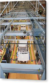 Truck Assembly Production Line Acrylic Print by Jim West