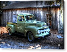 Truck By The Barn Acrylic Print