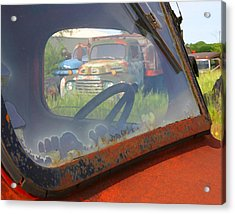 Acrylic Print featuring the photograph Truck Glass by Christopher McKenzie