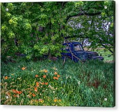 Truck In The Forest Acrylic Print by Paul Freidlund